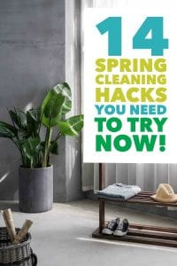 14 Spring Cleaning Hacks that will make cleaning your home a breeze. Save time & money with these eco cleaning hacks.