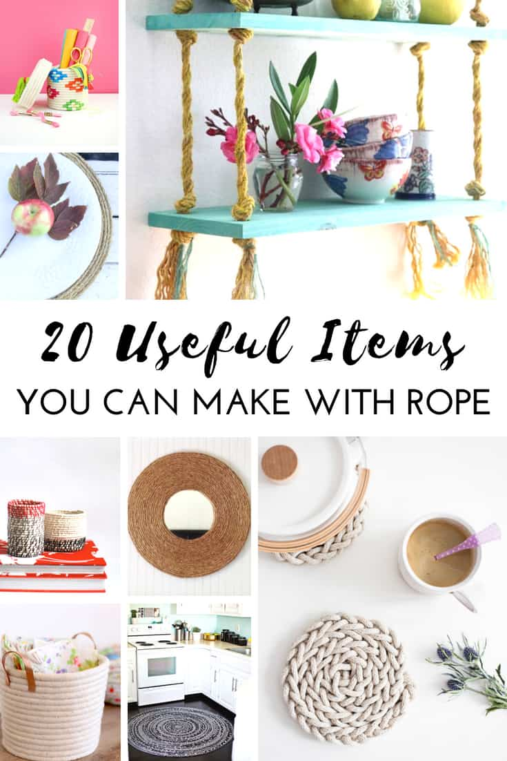 20 Cool things to make with rope. Awesome rope decoration ideas for your home. #rope #decor #diy