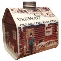 Pure Vermont Maple Syrup Pint Log Cabin Tin (Grade A Dark Amber)