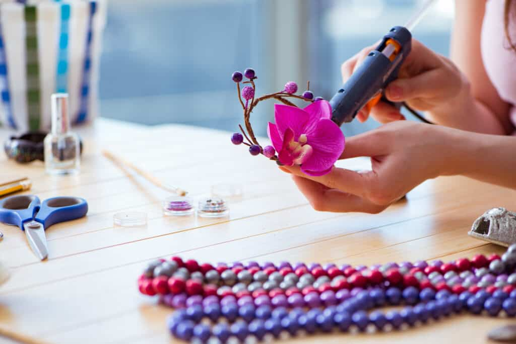 Home made jewelry can make an excellent diy gift.