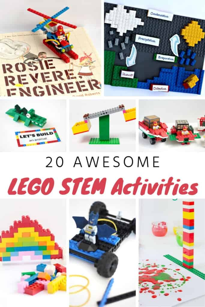 20 Creative and fun LEGO STEM activities for kids. #lego #stem #kids