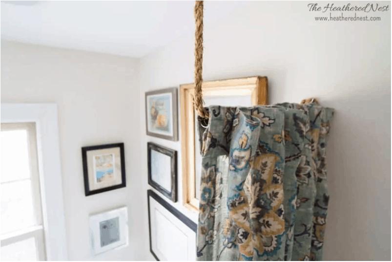 DIY curtain rail