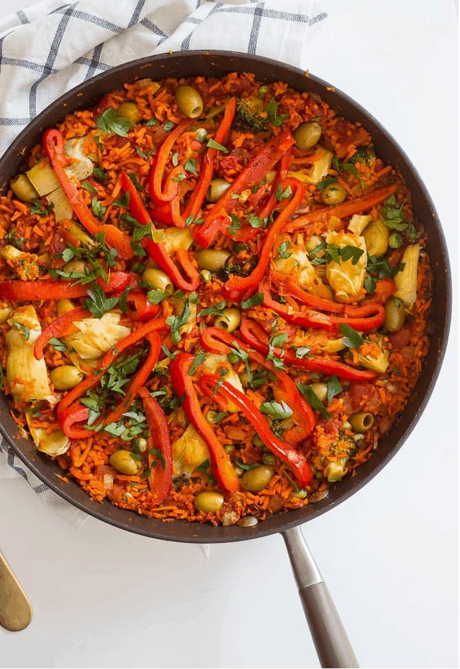No rice vegan paella recipe