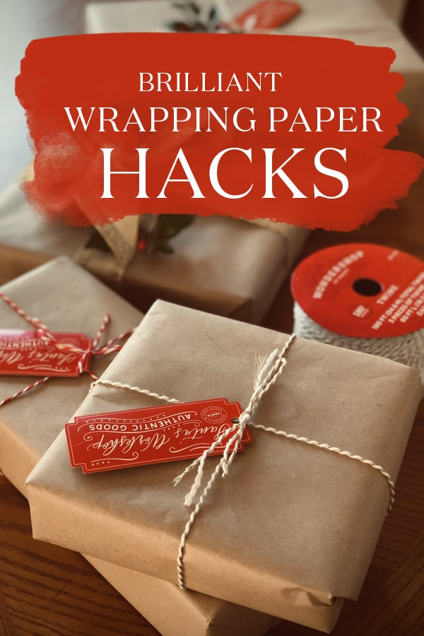 Looking to creative ways to wrap your presents this year? We've rounded up 20 DIY Wrapping Paper Hacks so you can forgo the boring stock standard Xmas wrap this year! #Xmas #Christmas #gifts #giftwrapping #xmashacks