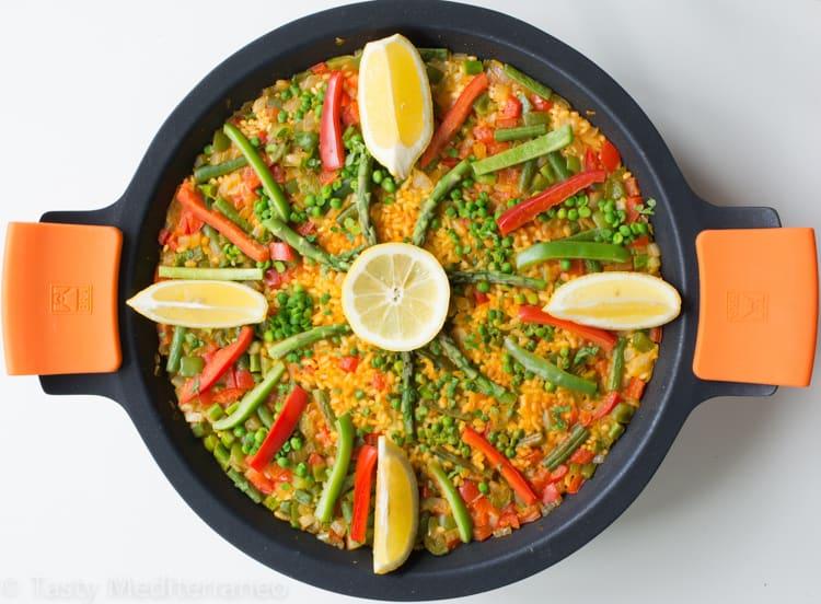 Vegan Spanish paella recipe