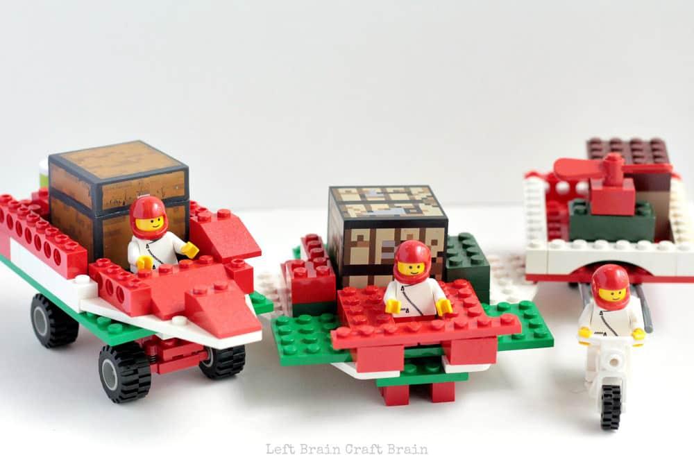 Build a santa sleigh from Lego