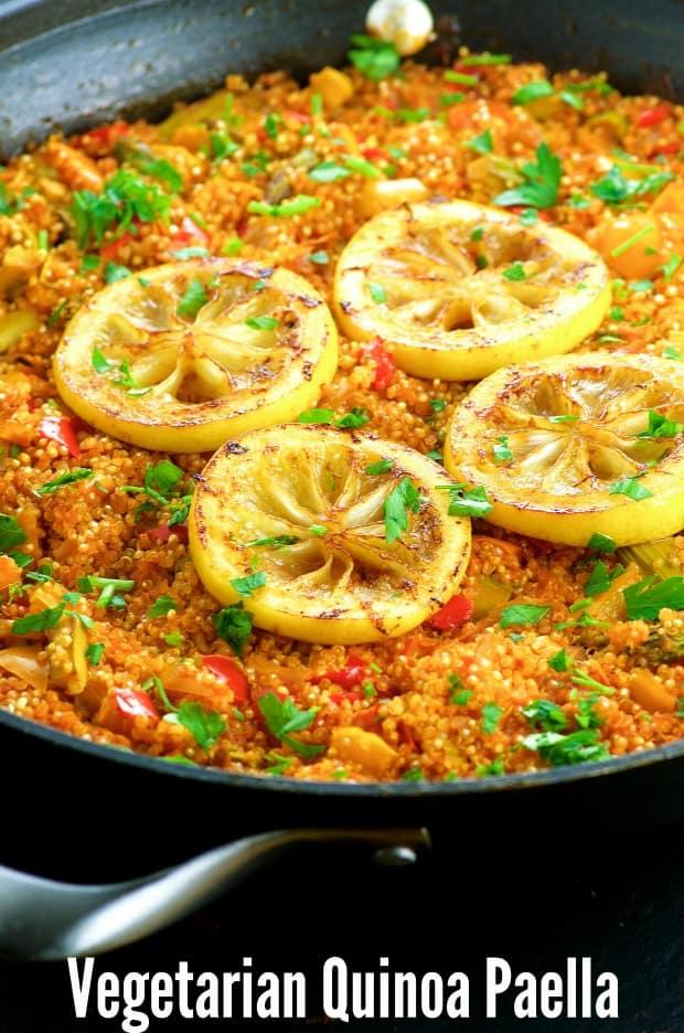 Vegan quinoa paella recipe