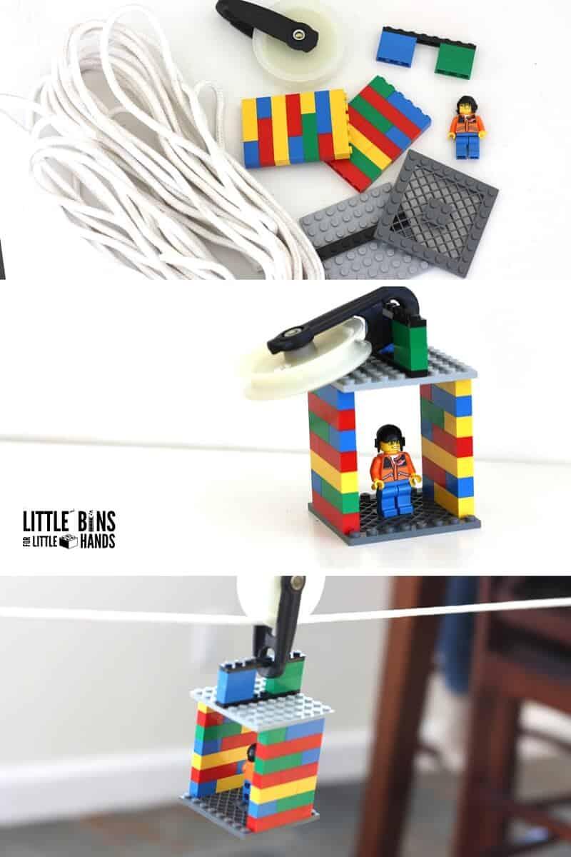 Lego stem zip line